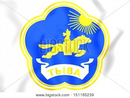 3D Tyva Republic Coat Of Arms, Russia. 3D Illustration.