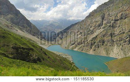 Lake Batak in July. The Western Tien-Shan. Uzbekistan.