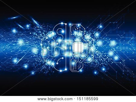 vector abstract background technology illustration communication network electric