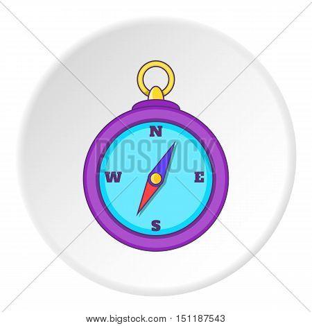 Compass icon. artoon illustration of compass icon vector icon for web