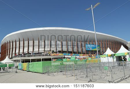 RIO DE JANEIRO, BRAZIL - AUGUST 13, 2016: Carioca Arena 3 at the Olympic Park in Rio de Janeiro. The venue hosted taekwondo and fencing at the 2016 Summer Olympics