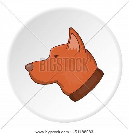 Dog head icon. artoon illustration of dog head vector icon for web