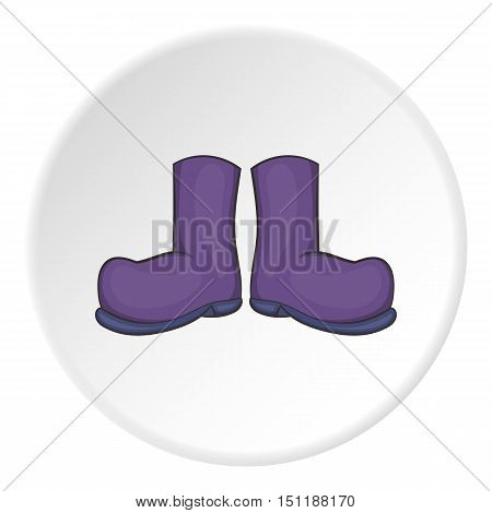 Rubber boots icon. artoon illustration of rubber boots vector icon for web