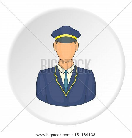 Train driver icon. artoon illustration of train driver vector icon for web