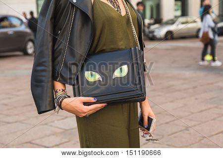 Detail Of Bag During Milan Fashion Week