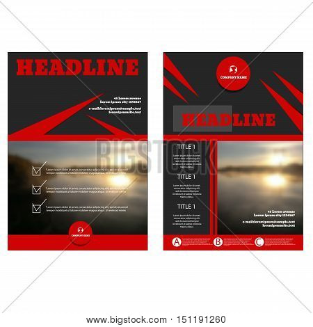 Brochure  A4 Size Flyer Design Template Vector Cover Presentation Geometric Background Modern Public