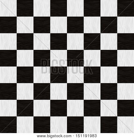 Empty chess board. Wooden empty chess board seamless pattern