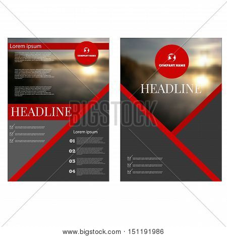 Business Annual Report Brochure Flyer Design Template Vector Cover Presentation Abstract Geometric B