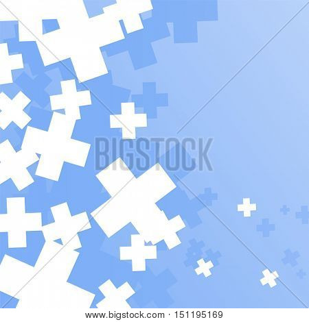 Abstract background created with plus sign