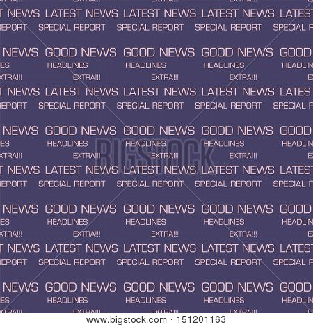 headline news words seamless patterns vector design background