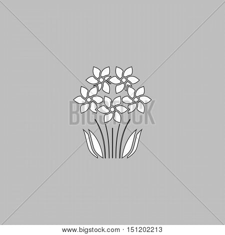 Flower Icon Vector. Flat simple color pictogram