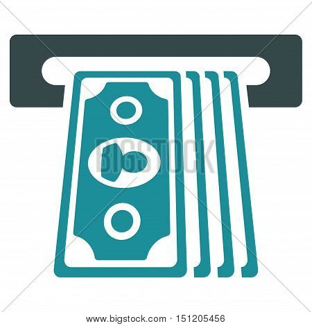 Cashpoint Terminal icon. Glyph style is bicolor flat iconic symbol with rounded angles, soft blue colors, white background.