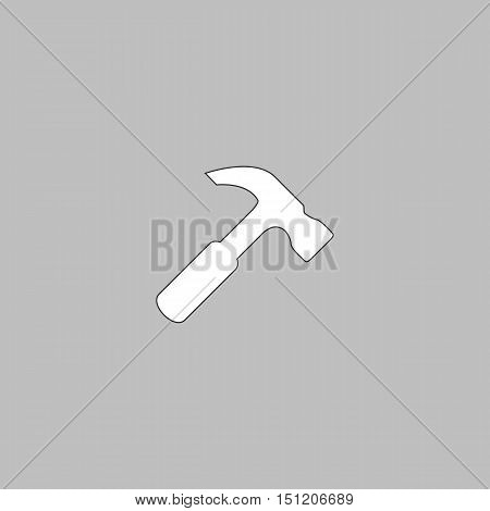 Hammer Icon Vector. Flat simple color pictogram