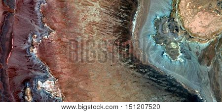 abstract landscapes,Abstract Naturalism,abstract photography deserts of Africa from the air,abstract surrealism,mirage in desert,fantasy forms of stone and colors in the desert,abstract expressionism