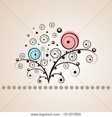 Vector floral design. This is a vector image - you can simply edit colors and shapes