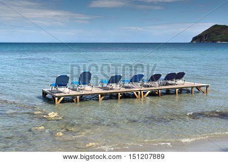 Panoramic view of koukla beach, Zakynthos island, Greece
