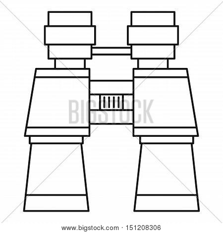 Binoculars icon. Outline illustration of binoculars vector icon for web