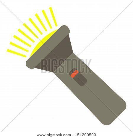 Flashlight icon. Flat illustration of flashlight vector icon for web.