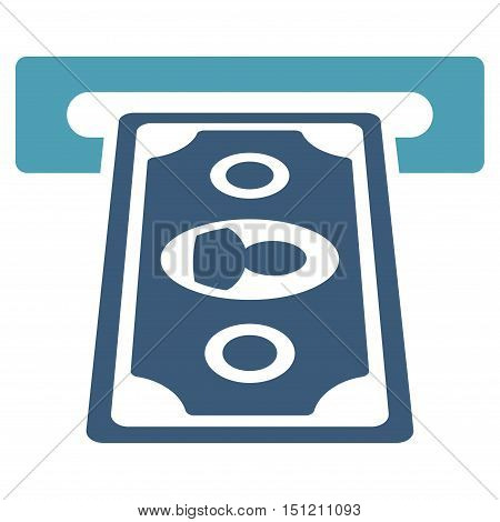 Cashpoint Terminal icon. Glyph style is bicolor flat iconic symbol with rounded angles, cyan and blue colors, white background.
