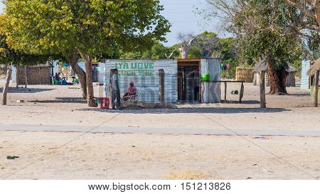 Caprivi, Namibia - August 20, 2016: Poor People Busy In Their Village In The Rural Caprivi Strip, Th