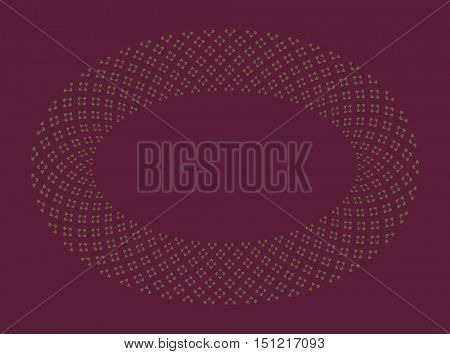A fine, jewellery like floral pattern in oval shape. An elegant vector pattern.