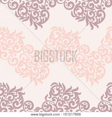 Filigree lace tracery in pastel colors. For wedding cards, invitation or scrapbook design.Soft and trendy color, swirls and dots, floral ornament