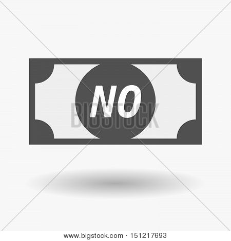 Isolated Bank Note Icon With    The Text No