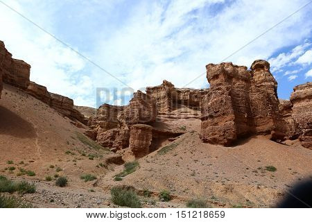 Nature, landscape, landscape, mountain landscape, canyon, Charyn canyon, clay Cajon, clay, Geology, riverbed