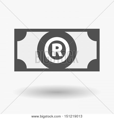Isolated Bank Note Icon With    The Registered Trademark Symbol