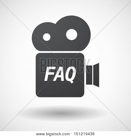 Isolated Film Camera Icon With    The Text Faq