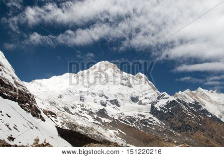 Annapurna south from mount Annapurna base camp Nepal