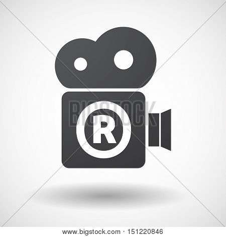 Isolated Film Camera Icon With    The Registered Trademark Symbol
