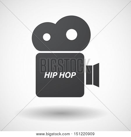 Isolated Film Camera Icon With    The Text Hip Hop
