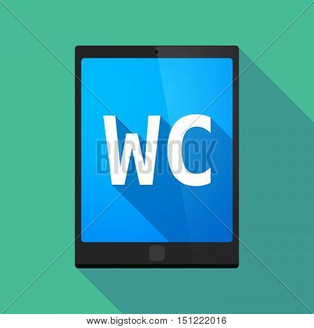 Long Shadow Tablet Pc With    The Text Wc