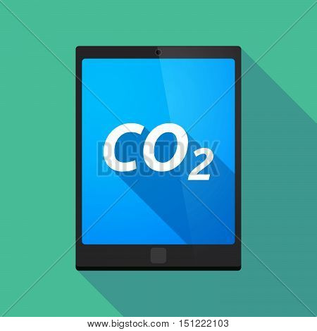 Long Shadow Tablet Pc With    The Text Co2