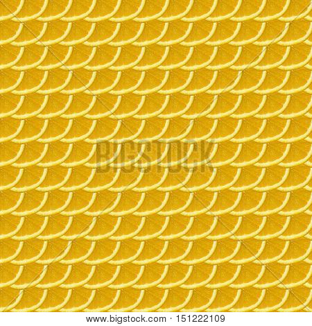 Slice oranges pattern in the form of scales