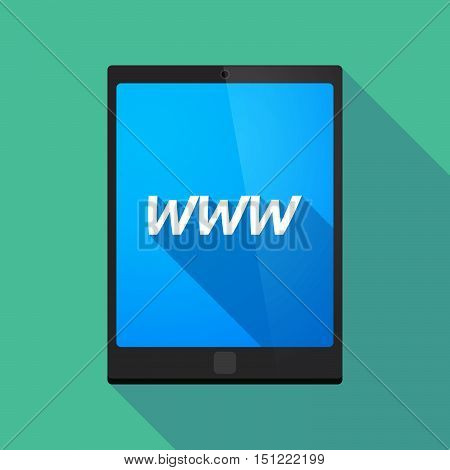 Long Shadow Tablet Pc With    The Text Www