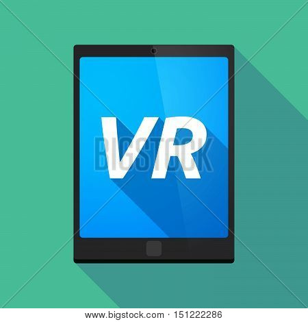 Long Shadow Tablet Pc With    The Virtual Reality Acronym Vr