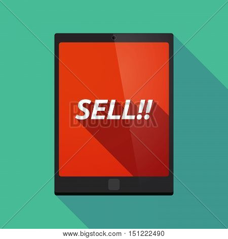 Long Shadow Tablet Pc With    The Text Sell!!