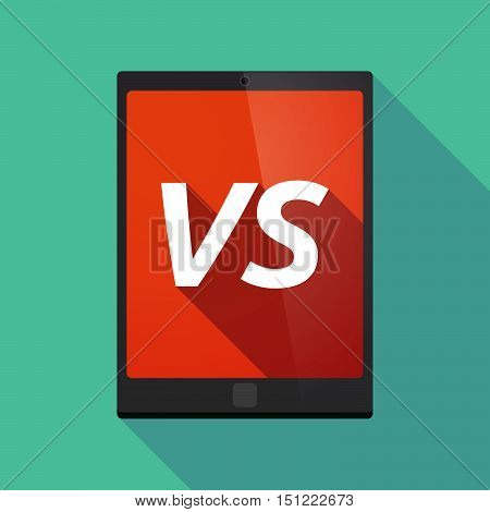 Long Shadow Tablet Pc With    The Text Vs