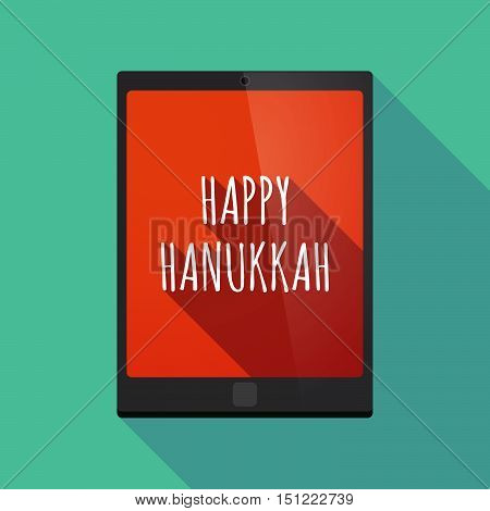 Long Shadow Tablet Pc With    The Text Happy Hanukkah