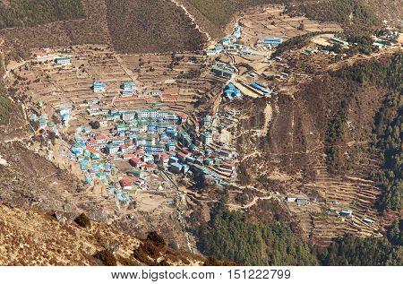 Namche Bazar - Sagarmatha national park - Khumbu valley - way to Everest base camp - Nepal