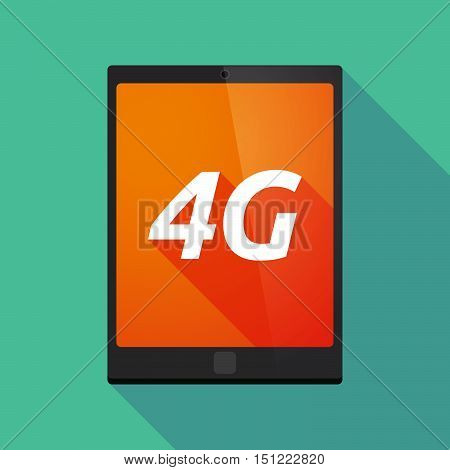 Long Shadow Tablet Pc With    The Text 4G