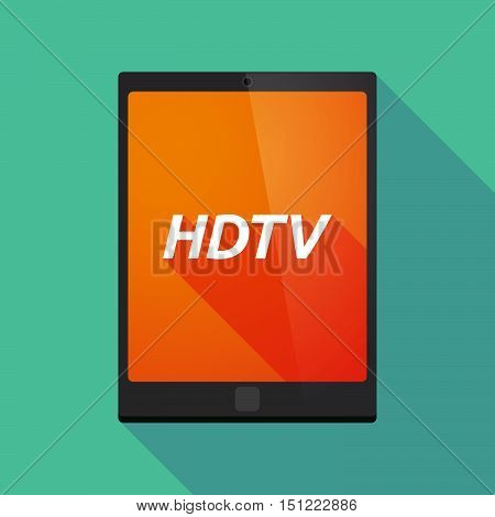 Long Shadow Tablet Pc With    The Text Hdtv