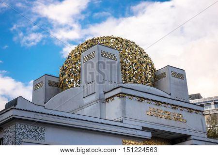 Vienna Secession landmark and union of austrian artists architecture in art nouveau