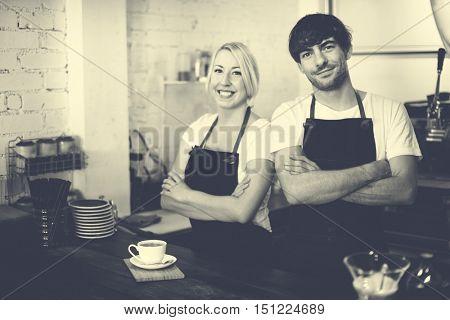 Barista Cafe Coffee Uniform Apron Service Shop Concept