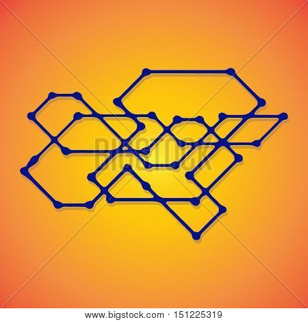 Mechanical schemes, vector engineering drawing with geometric parts mechanism. Futuristic industrial project can be used in web design and as wallpaper.