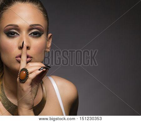 Seductive woman with secret