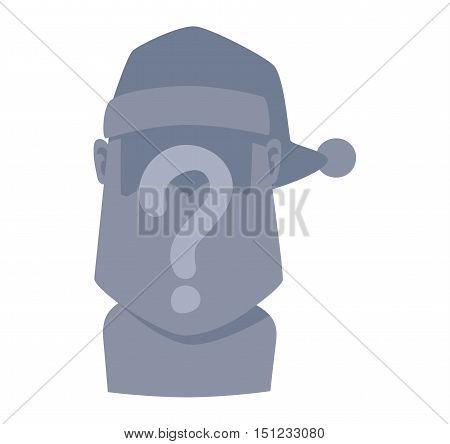 Santa Claus flat icon vector illustration. Santa Claus cartoon old man red hat silhouette. Santa Claus traditional costume.