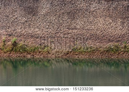 Water Pond And Earth Soil Texture Effect From Ore Mine Mining Industry